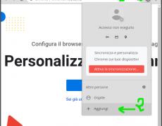 Aggiungi un'utenza a Chrome